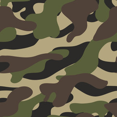 Camouflage pattern background seamless illustration. Military camouflage