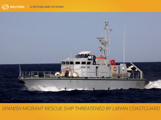 A Picture and its Story: Spanish migrant rescue ship threatened by Libyan coastguard
