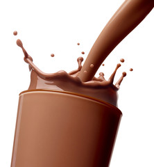 chocolate milk drink splash glass