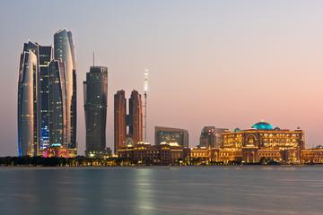 Canvas Prints Abu Dhabi Abu Dhabi buildings skyline from the sea