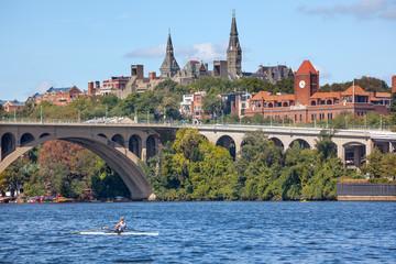 Key Bridge Georgetown University Washington DC Potomac River