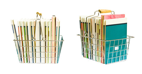Shopping Basket With Books