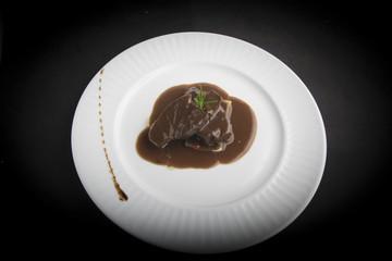 solomillo en salsa española