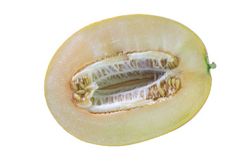 Ripe ripe juicy yellow melon