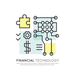 Vector Icon Style Illustration Concept of Internet Banking Protection and Security, Financial l Technology Progress and Innovation