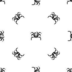 Crab sea animal pattern seamless black