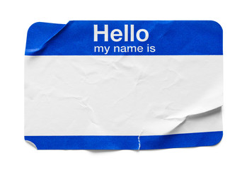 Hello My Name Is Tag Used
