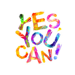 Yes, you can. Vector triangular letters