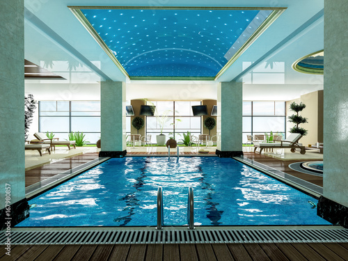indoor swimming pool design idea\