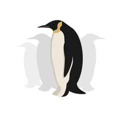 Standing penguin, flat vector image