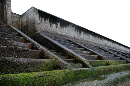 Sea defences in Cullen, Scotland