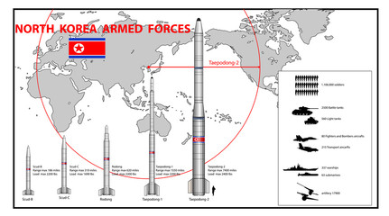 Infographics of North Korea armed force