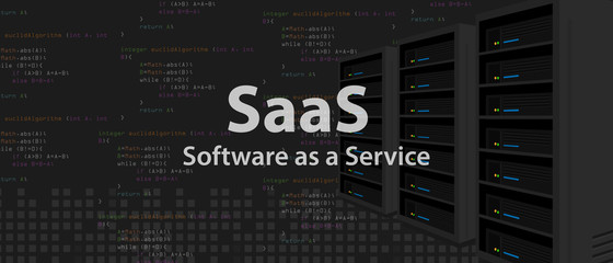 SaaS Software as a service code line of programming internet application