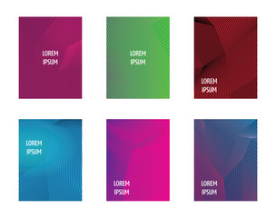 Simple Modern Covers Template Design. Set of Minimal Geometric Halftone Gradients for Presentation, Magazines, Flyers, Annual Reports, Posters and Business Cards. Background Colorful.