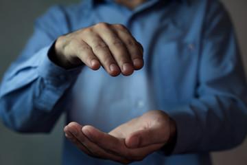 Protecting gesture.