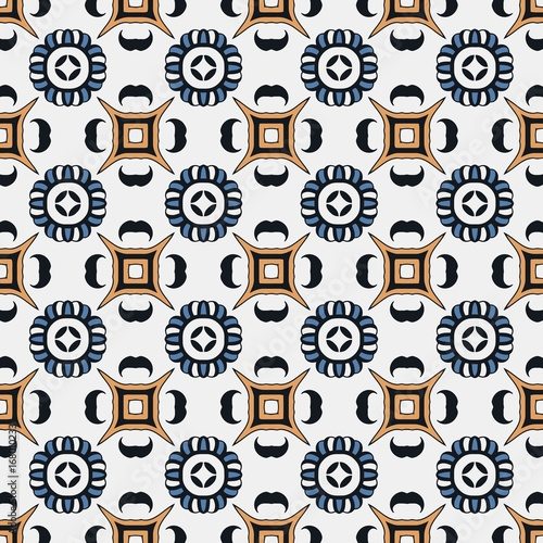 Abstract Seamless Background Of Symmetrically Repetitive Patterns Of Delectable Repetitive Patterns