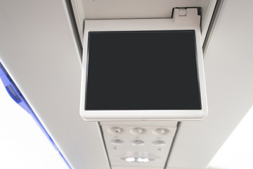 Display screen in airplane