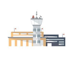 Airport building with control tower