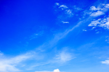Beautiful blue sky and clouds pattern texture background.