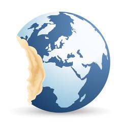 terre - environnement -, symbole - planète - climat - croqué - exploitation - réchauffement climatique