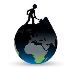 terre - environnement - symbole - exploitation - ressource - énergétique