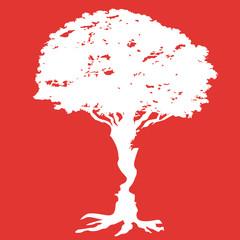 couple - arbre - silhouette - amour - amoureux - union - ensemble - mariage