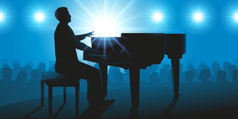pianiste - piano - musique - concert - instrument -musicien