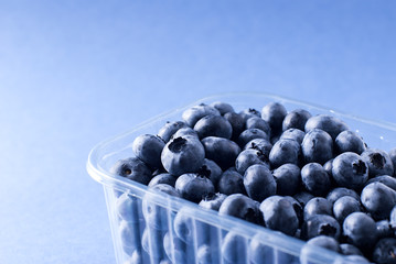 Blueberry in a plastic container