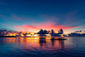 Sunset of the Pacific in Guam