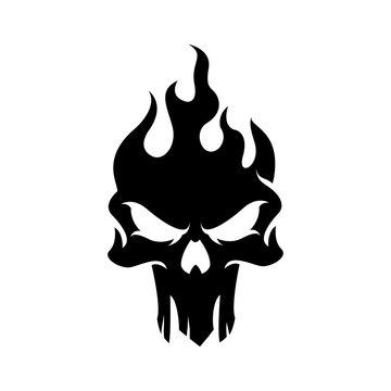 Dark Skull Logo template.