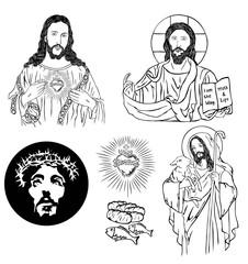 Jesus Sketch Drawing, art vector design