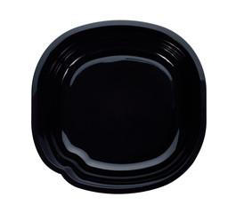 black microwavable plastic food bowl.
