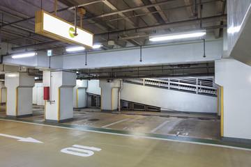 Interior view of Underground car parking lot