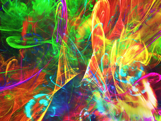 Abstract fractal background 3D rendering