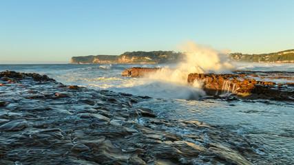 Early Morning Rock Platform Seascape