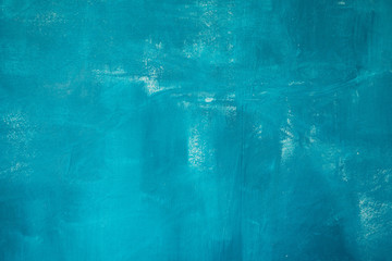 Abstract hand painted blue paint background