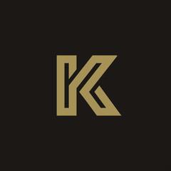 Luxury Letter K Logo design concept template