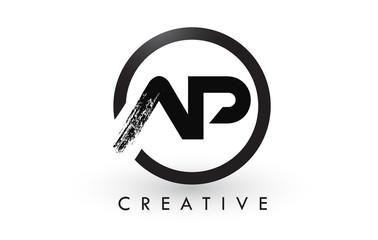 AP Brush Letter Logo Design. Creative Brushed Letters Icon Logo.