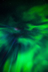 Spektakuläre Nordlichter über Island