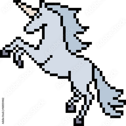 Vector Pixel Art Unicorn Stock Image And Royalty Free Vector Files