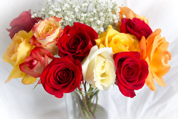 Soft Bouquet of Roses/A beautiful bouquet of colorful roses with a soft vignette.