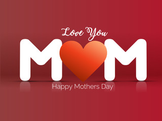nice and beautiful vector abstract for Happy Mother's Day with nice and beautiful design illustration  in background.