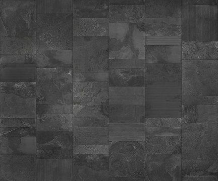 Slate tile ceramic, seamless texture dark gray map for 3d graphics