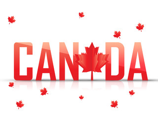 nice and creative abstract for Canada Day or Canada Day sale with nice and creative design illustration.