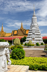 Royal palace in the capital city of Cambodia in Phnom Penh