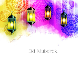 nice and beautiful vector abstract for Eid Mubarak with nice and creative design illustration in background.