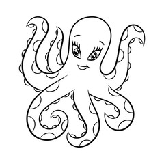 Octopus coloring book.