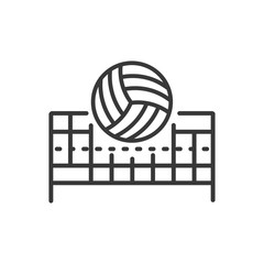 Volleyball - modern vector line design single icon.