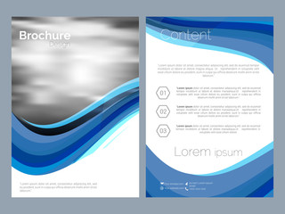 creative vector business brochures or flyer with nice and creative design illustration in background.