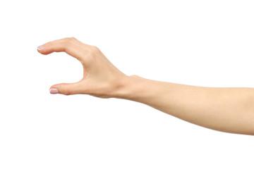 Woman's hand grabbing or measuring something